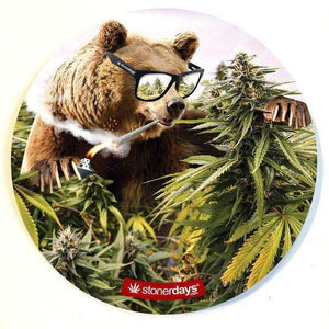 "Stoner Glass & Mouse Mat 8"" Round - Various Designs - (1 Count) - Lake shore vibe"