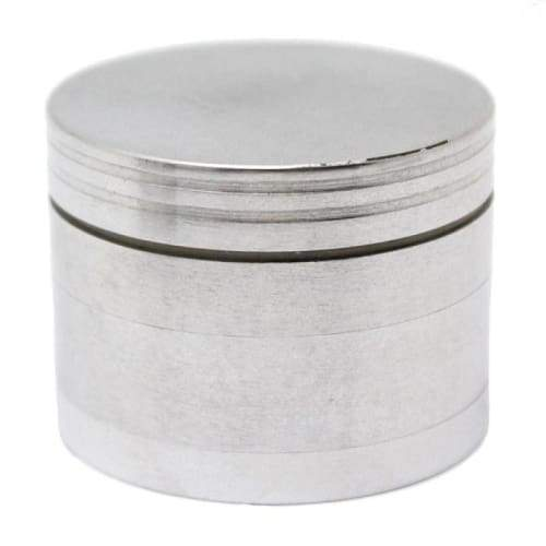 Medium Herb Grinder Silver 4 Part 50mm