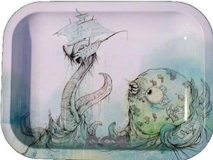 OCB Rolling Tray - Sea Monster Series (Small, Medium or Large) (1 Count)