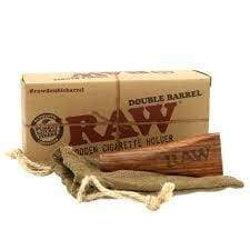 Raw 1 1/4 Size Wooden Double Barrel Holder