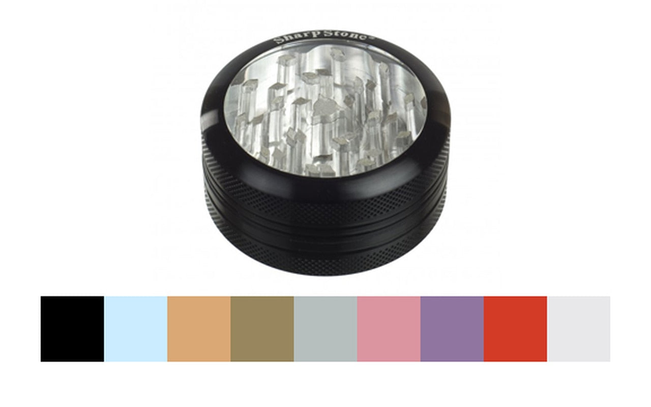 Sharpstone® 2 Piece Clear Top Grinder - Lake shore vibe