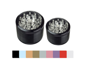 Sharpstone® 4 Piece Clear Top Grinder - Lake shore vibe