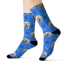 Load image into Gallery viewer, custom dog socks put dog face on socks