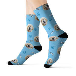 socks with dog face