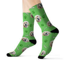 Load image into Gallery viewer, custom dog socks dog face socks