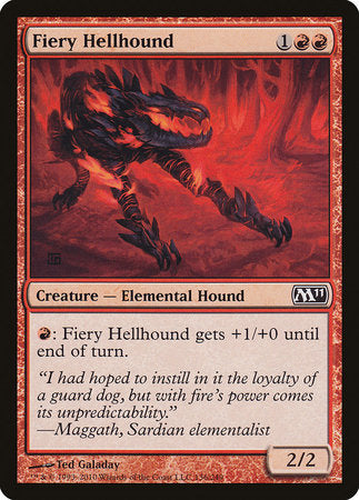 Fiery Hellhound [Magic 2011]