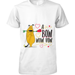 A Bow Wow Vow T-shirt - Dog Lover With Rose