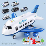 Multi-language Music Story Simulation Track Inertia Children'S Toy Aircraft Large Size Passenger Plane Kids Airliner Toy Car