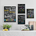 Frameless Letter Pattern Decorative Paintings Wall Decoration
