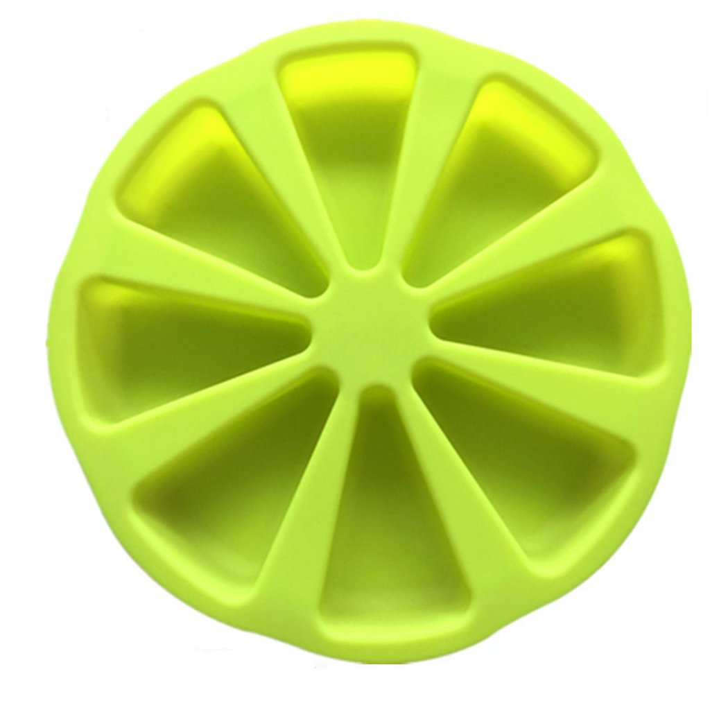 8 Cavity Silicone Portion Cake Mold Pizza Slices Pan