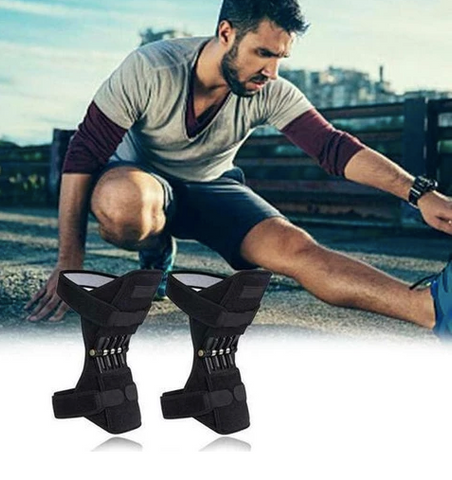 Sports power spring knee pads