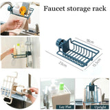 Bathroom Kitchen Sink Organizer Rack Faucet Storage Shelf