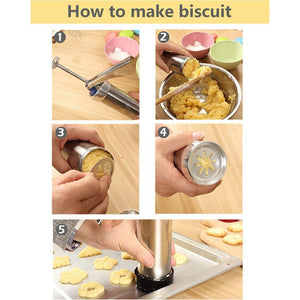 Aluminum Alloy Biscuit Press Cookie Maker Machine Mold