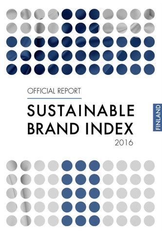 Undersökning: Sustainable Brand Index 2016 - Finland