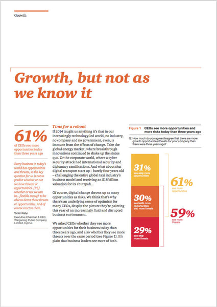 Undersökning: 18th Annual Global CEO Survey