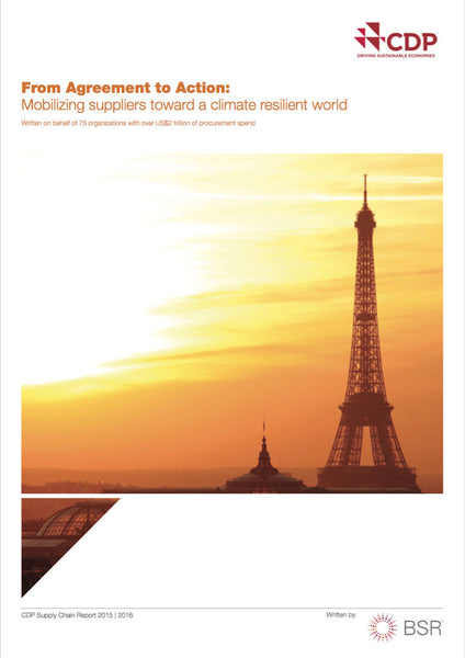Rapport: From Agreement to Action - Mobilizing suppliers toward a climate resilient world