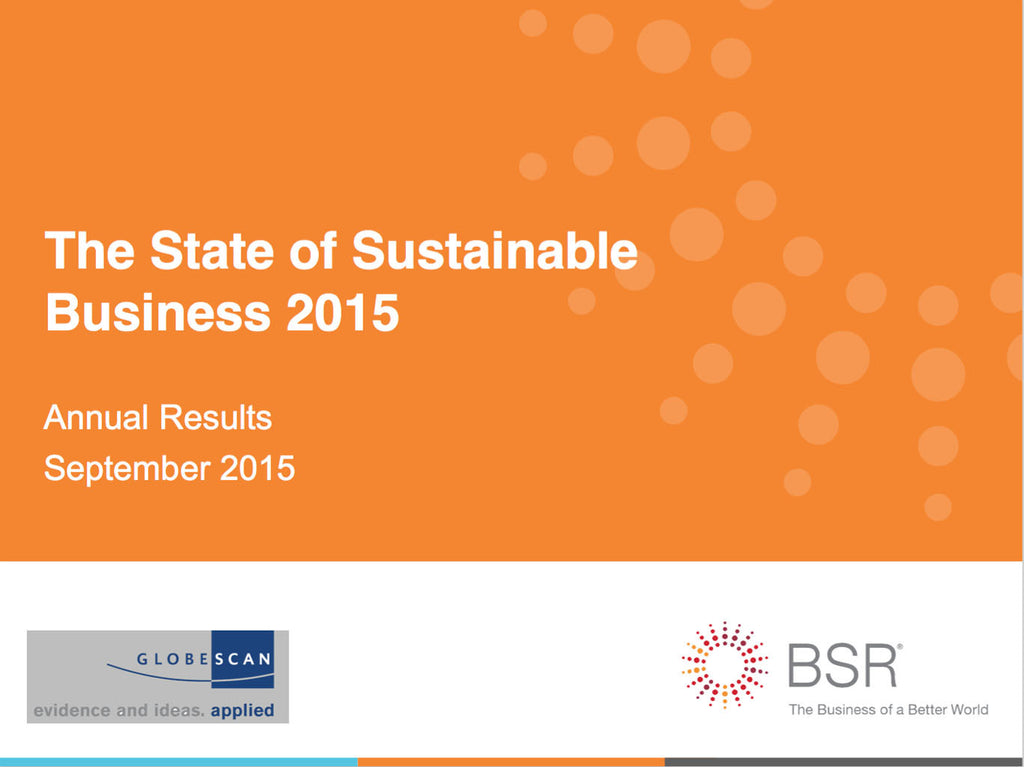 Undersökning: The State of Sustainable Business 2015