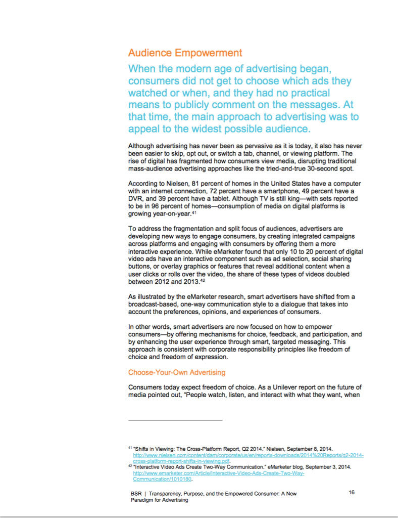 Rapport: Transparency, Purpose, and the Empowered Consumer: A New ...