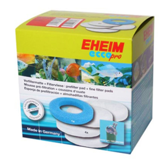 Eheim Ecco Pro filter pads - 4 White / 1 Blue