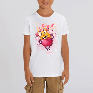ABEILLE LOVE CARTOON T-SHIRT MIXTE ENFANT