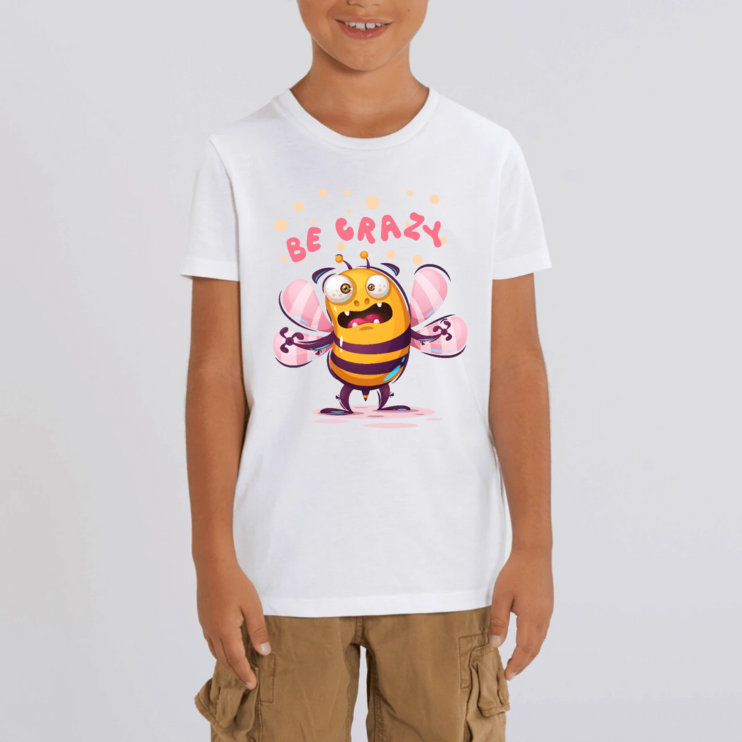 ABEILLE BE CRAZY CARTOON T-SHIRT MIXTE ENFANT