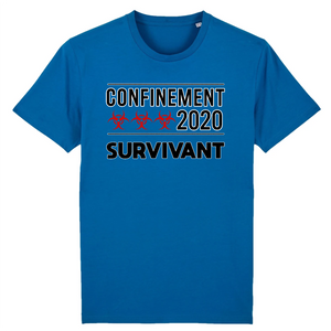Coronavirus Survivant du Confinement 2020 T-shirt humour