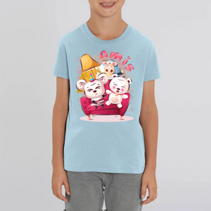 PANDA OURSON ANE AMIS CARTOON T-SHIRT ENFANT