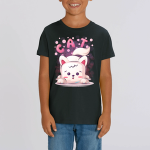 CHAT CARTOON T-SHIRT ENFANT