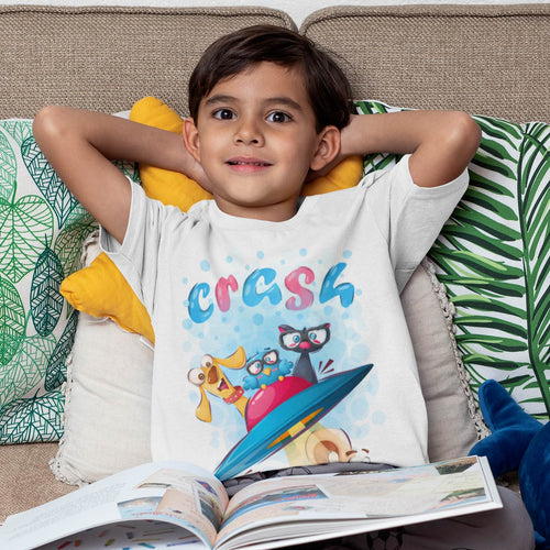 OVNI CRASH CARTOON T-SHIRT ENFANT