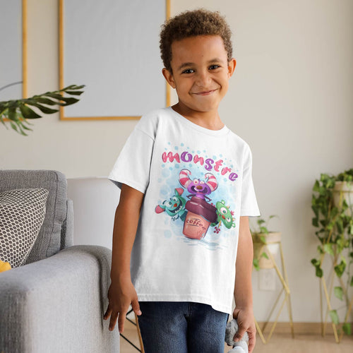 MONSTRE CARTOON T-SHIRT ENFANT