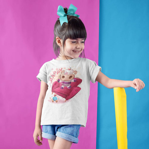 VACHE HAPPY CARTOON T-SHIRT MIXTE ENFANT