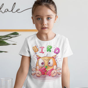 OISEAU CARTOON T-SHIRT MIXTE ENFANT