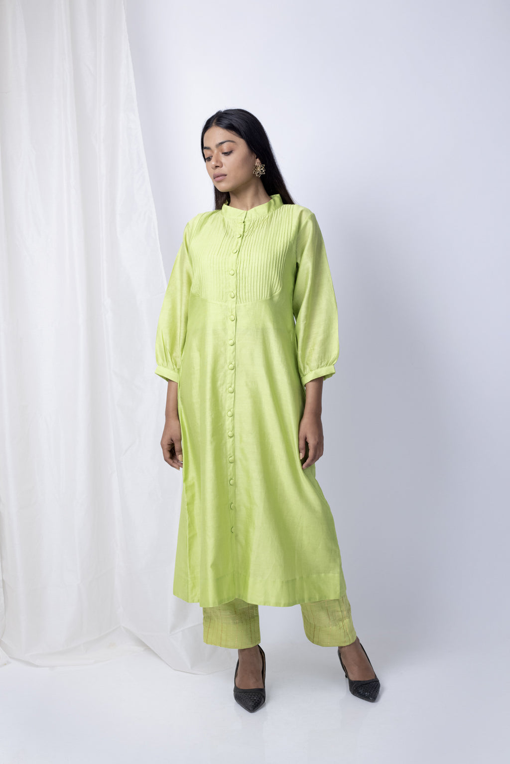 Mehran Tunic with checkered pants