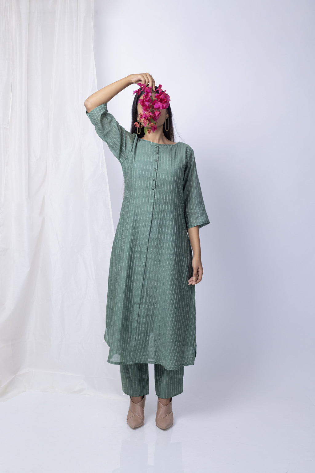 Forest Green Kurta and Pants