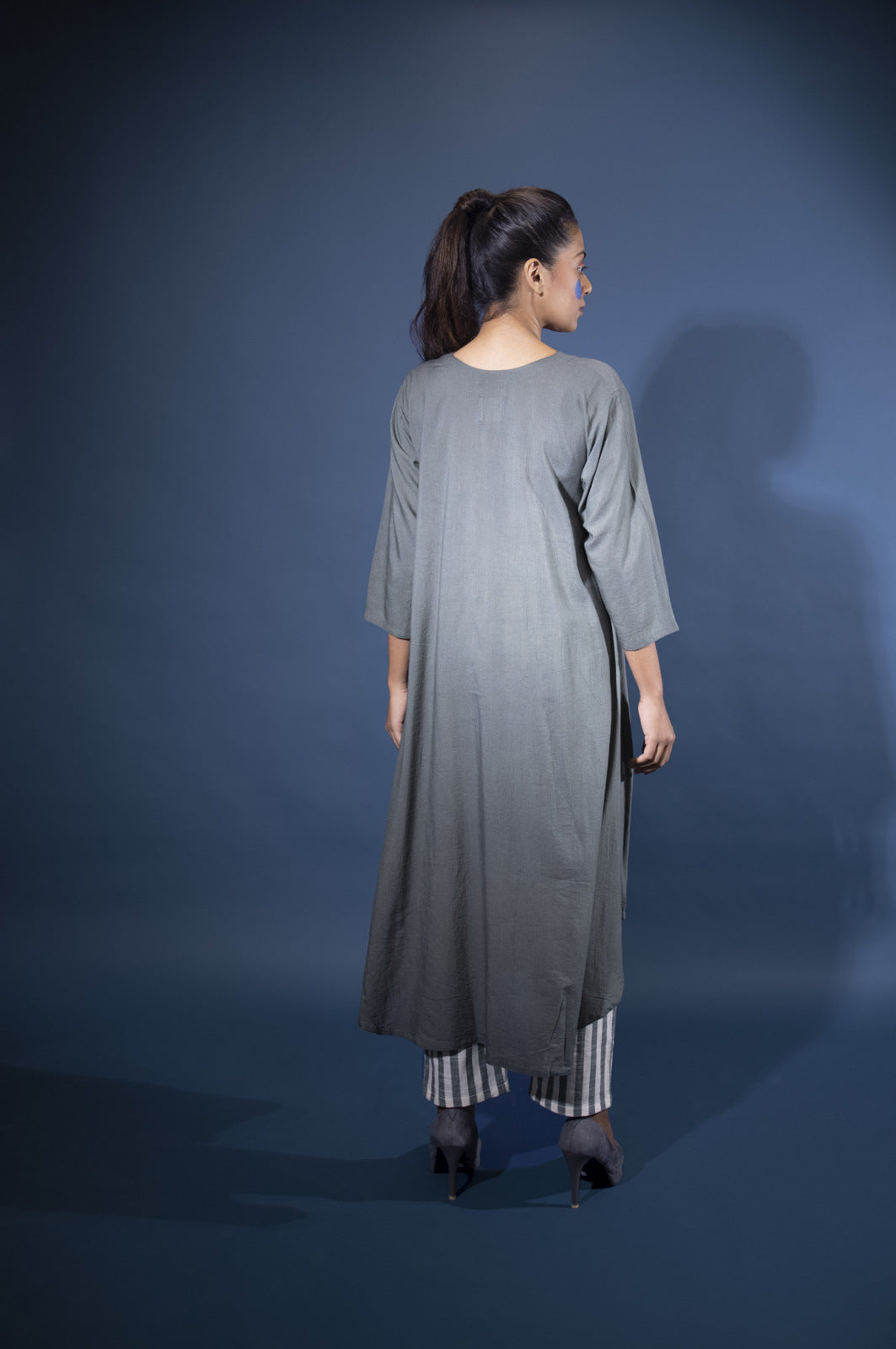 Seaweed Tunic with Striped pants