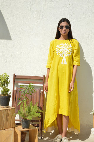 Yellow Tree of Life Tunic