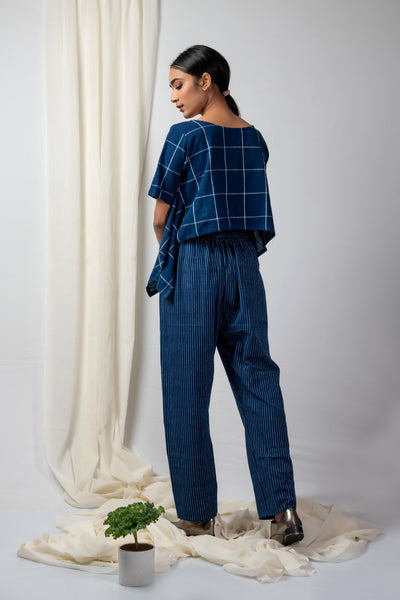 Indigo Striped Pants