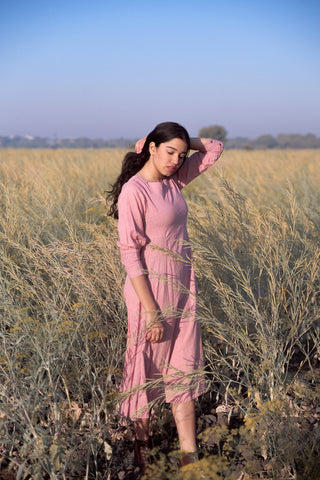Dusty pink victorian cuffs dress