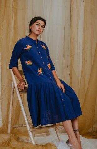 Indigo Flying Birds Tunic