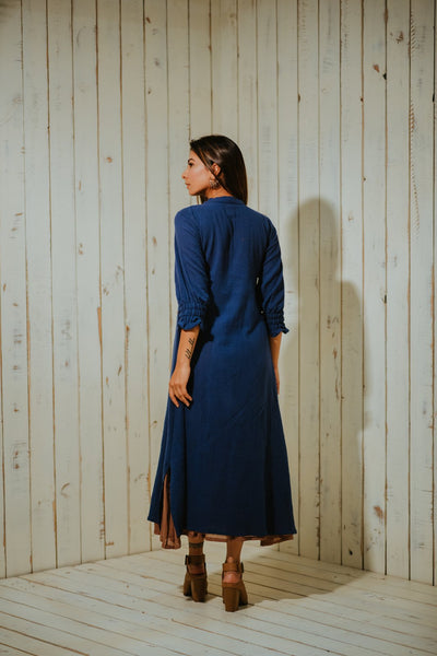 Indigo Eden Layered Dress