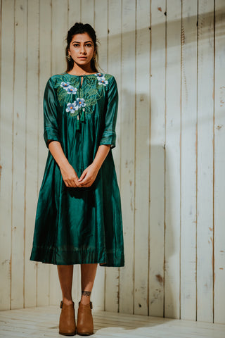 Emerald Moonlit Champa Tunic