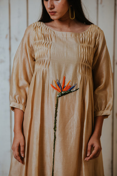 Beige Lost Paradise Smock