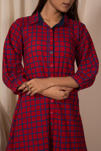 Redheart Button-down Tunic