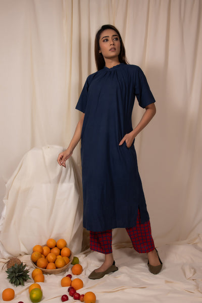 Blueberry Straight Fit Kurta