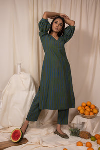 Okra Kurta and Pants Set