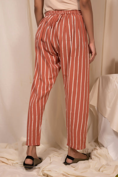 Peach Striped Pants
