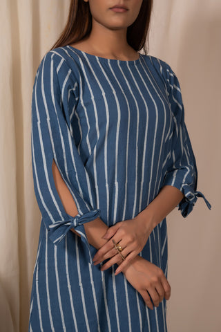 Bluemoon Sleeve-tie Tunic