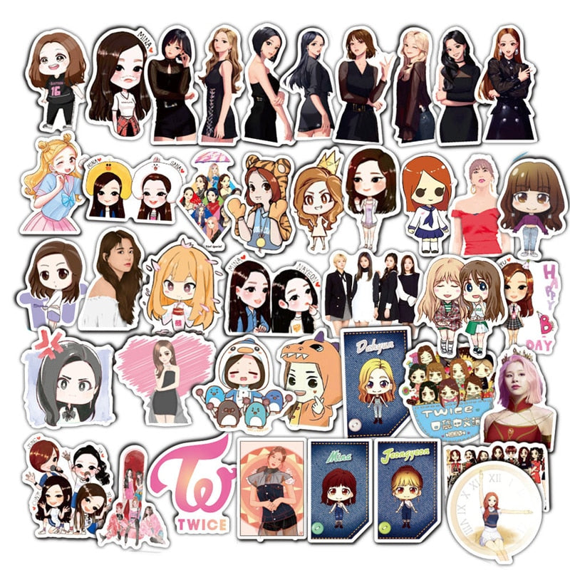 TWICE ' Cartoon WORLD' Stickers - Kpopersify