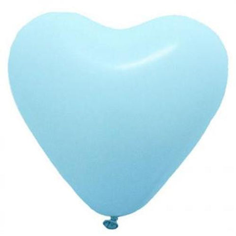 Pale Blue Heart Balloons