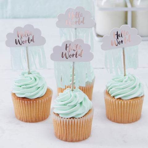 Hello World Cake Toppers